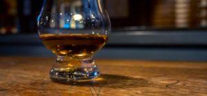 Irish Whiskey in a bar