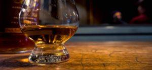 Irish whiskey in glass