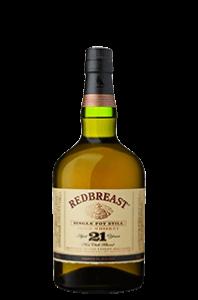 Redbreast 21 year old Irish pot still whiskey rare ireland