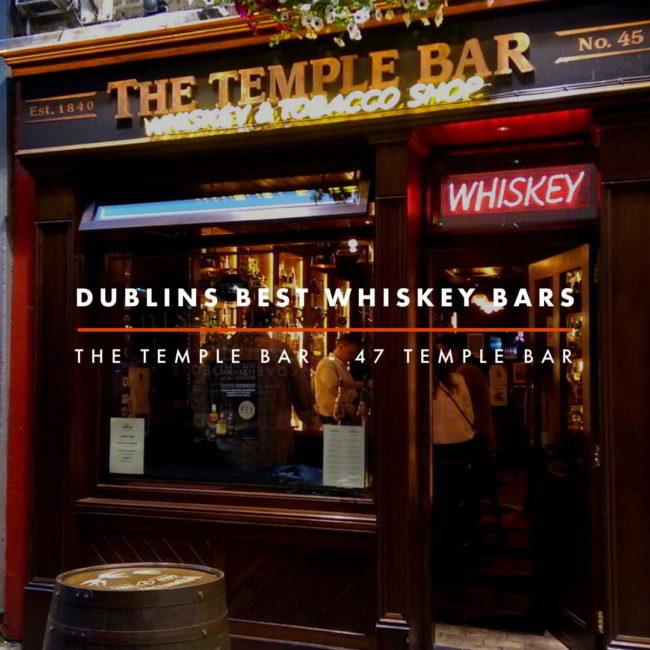 Dublin Whiskey Tours - Dublins Best Whiskey Bars - Temple Bar Whiskey Store